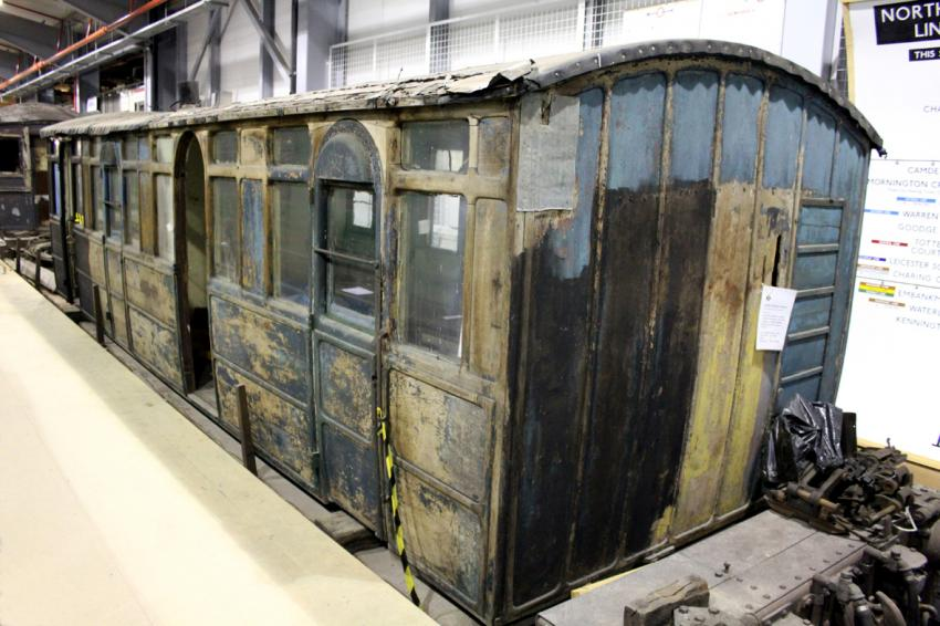 Carriage 353 unrestored at the Depot