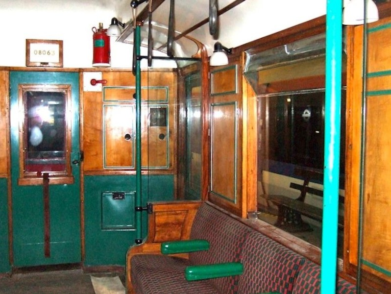 Interior of 1930s Q 35 carriage