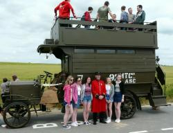 BATTLE BUS ON THE SOMME