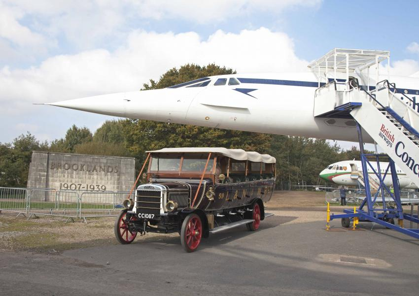 CHARABANC AT BROOKLANDS