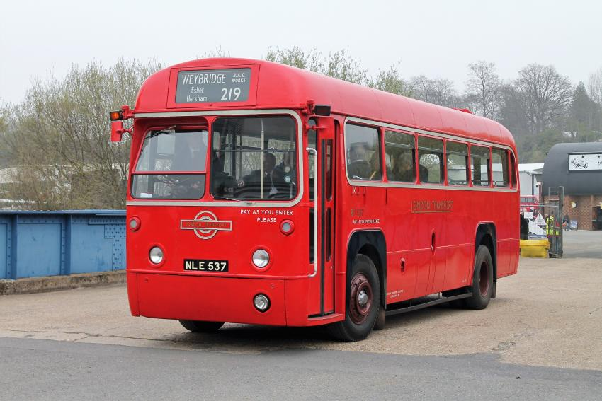 RF 537 VISITS LONDON BUS MUSEUM